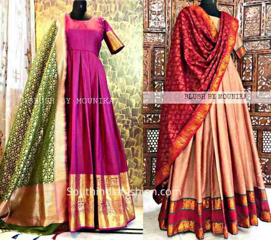 Convert silk sarees to anarkali dresses