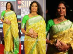 Easwari Rao yellow saree siima awards 2019