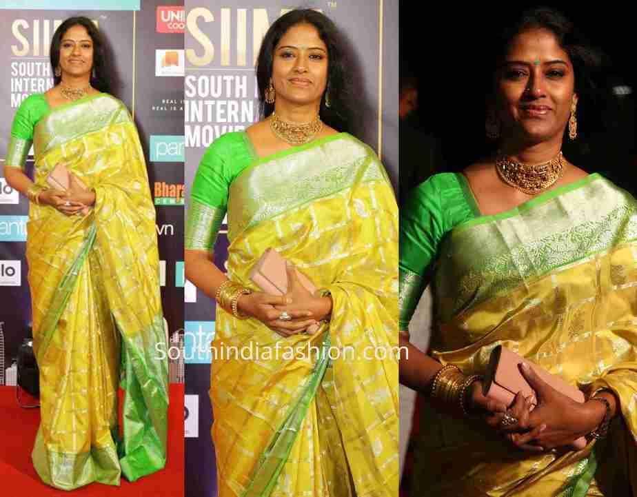 Easwari Rao yellow saree siima awards 2019