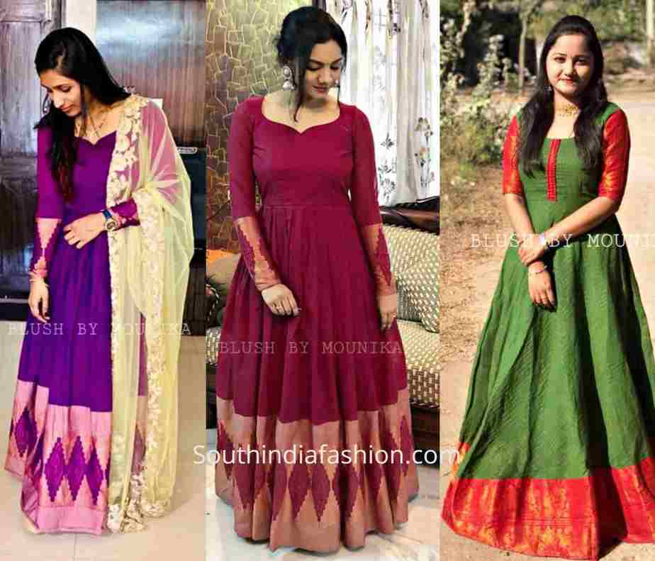 evening gowns made from silk sarees (1)