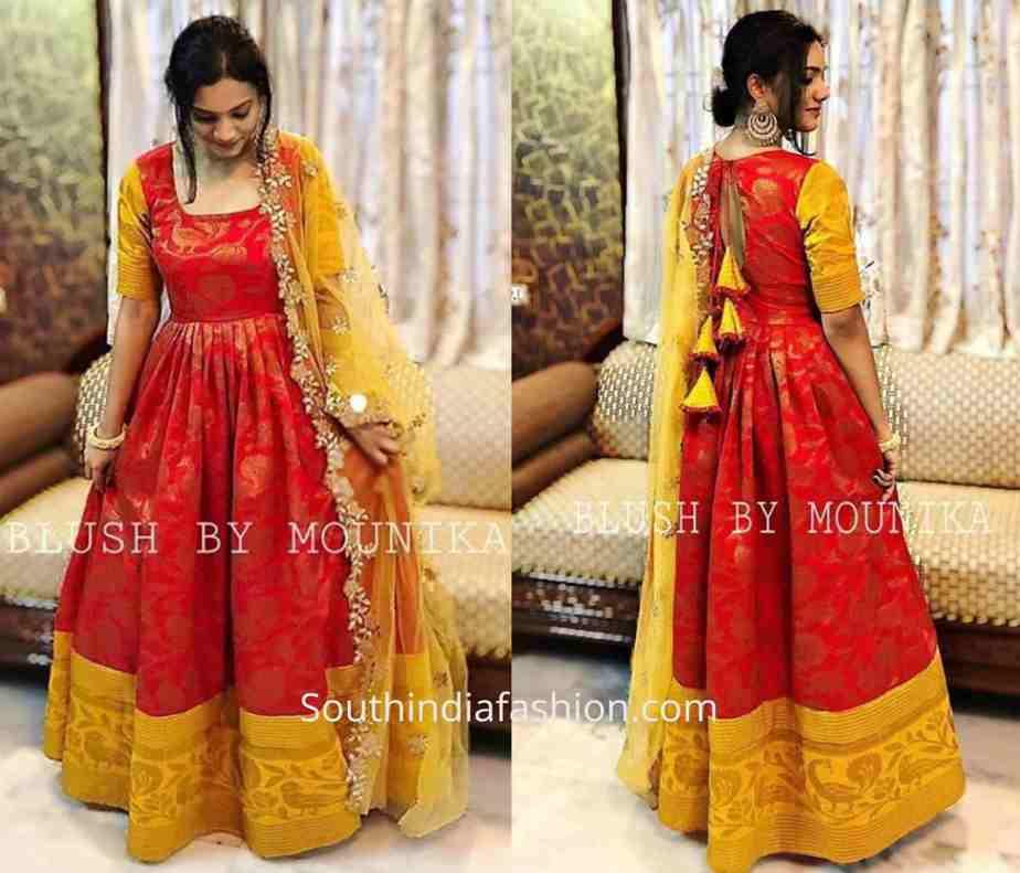 Anarkali Dress Designs Made Form Silk Sarees Saree Anarkali Dress