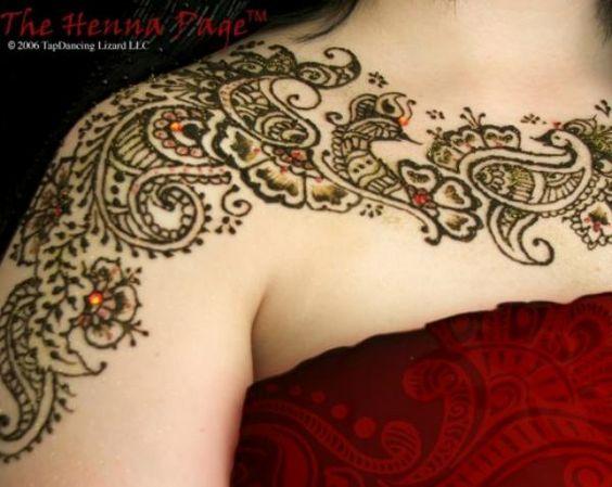 neck mehndi designs
