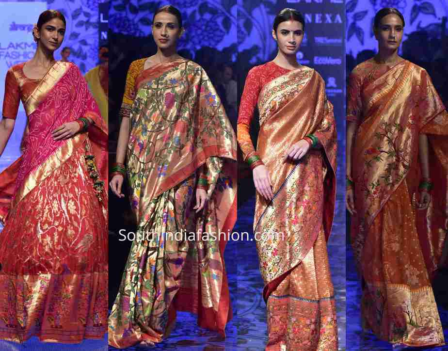 gaurang paithani collection lakme fashion week 2019 (1)