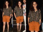 genelia casual look shorts