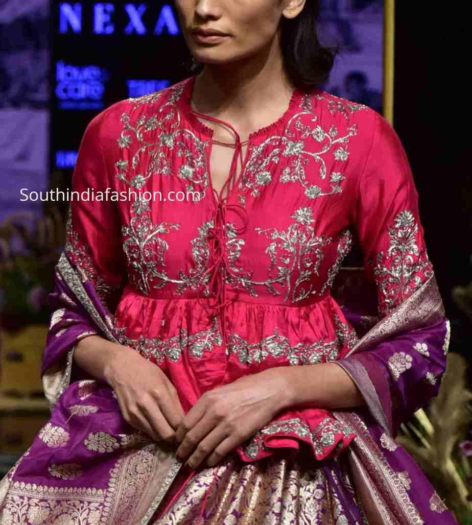 jayanti reddy peplum blouse designs 2019