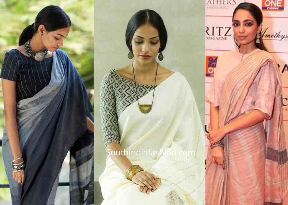 jewellery with office wear sarees