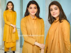 kajal aggarwal yellow dress comali interviews