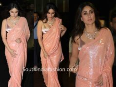Kareena Kapoor in Manish Malhotra saree on the sets of Dance India Dance
