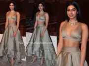 khushi kapoor manish malhotra lehenga lakme fashion week