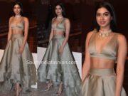 khushi kapoor manish malhotra lehenga lakme fashion week