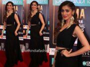 laxmi raai black saree siima awards 2019