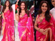madhuri dixit pink saree dance deewane