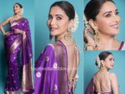 madhuri dixit purple saree raw mango dance deewane