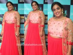 mahatalli jahnavi dress at siima 2019