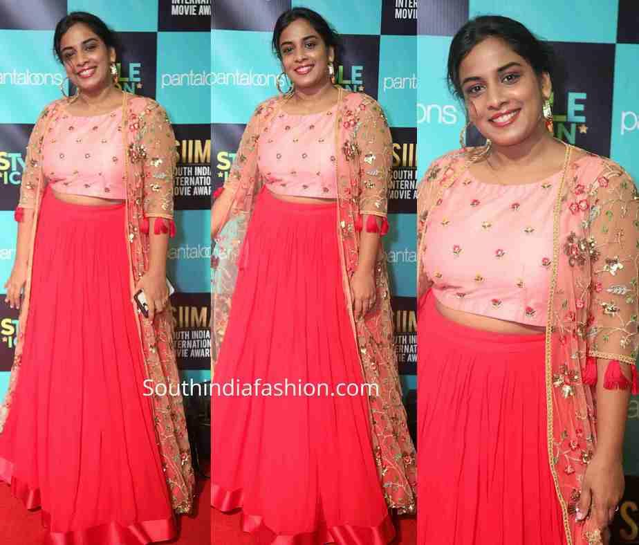 mahatalli jahnavi dress at siima 2019