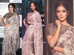 malavika mohanan saree lakme fashion week 2019