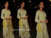 nora fatehi yellow gharara batla house promotions