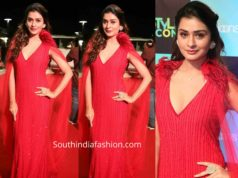 payal rajput red gown at siima 2019