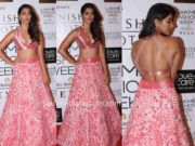 pooja hegde manish malhotra lehenga lakme fashion week