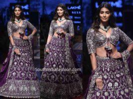 pooja hegde purple jayanti reddy lehenga lakme fashion week