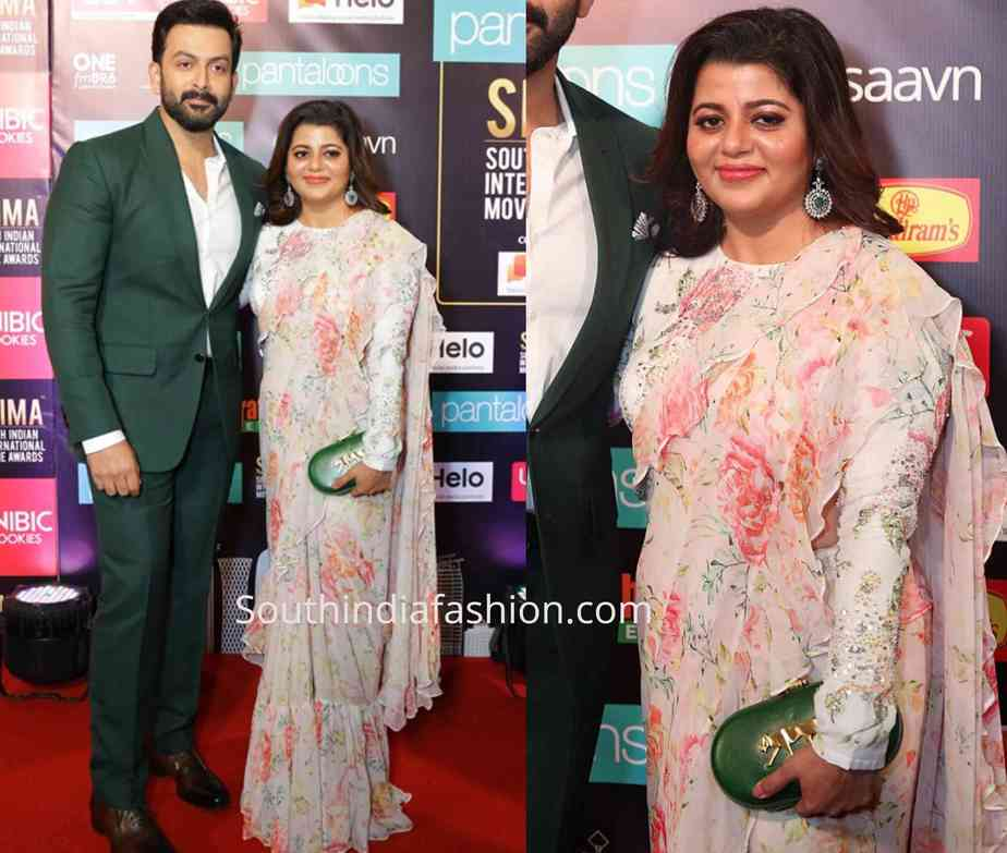 prithviraj wife at siima awards 2019