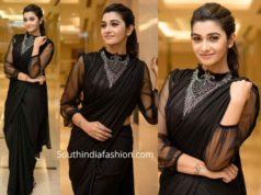 priya bhavani shankar black saree