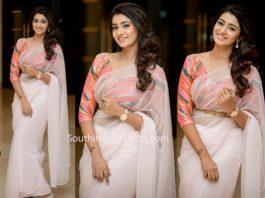 priya bhavani shankar in white saree