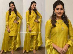 raashi khanna yellow salwar kameez kousalya krishnamurthy pre release