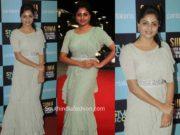 rachita ram ruffle saree at siima awards 2019