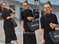 rakul preet singh black dress diro bag