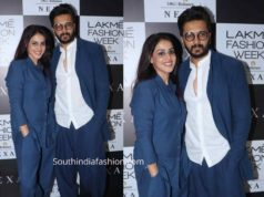 riteish and genelia in blue dresses lakme fashion week 2019 (1)