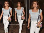 sara ali khan white jeans