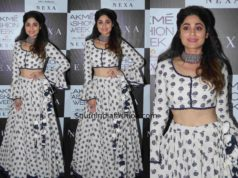 shamita shetty punit balan skirt lakme fashion week
