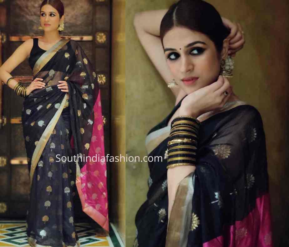 shraddha das black saree