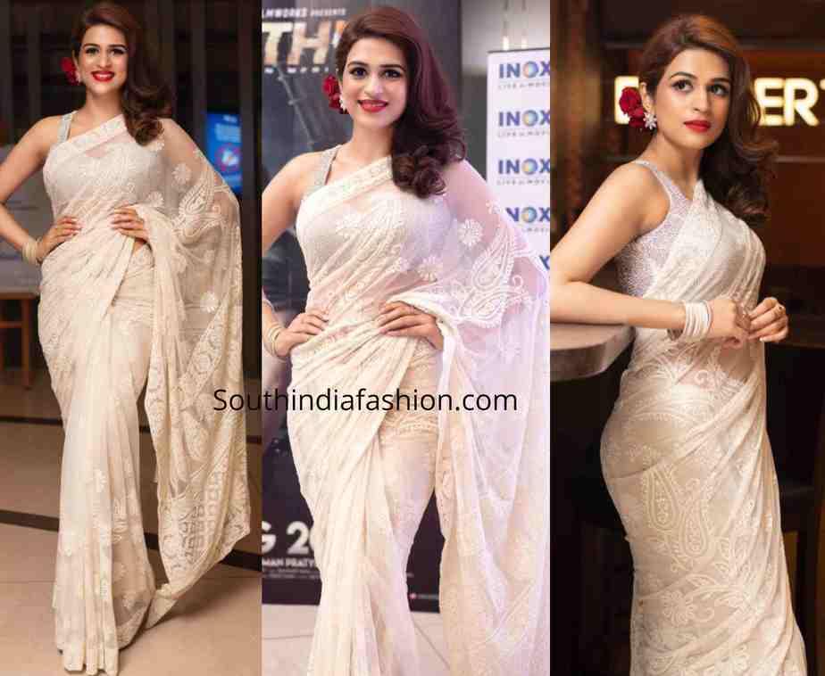 shraddha das white saree