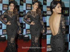 shriya saran black gown siima awards