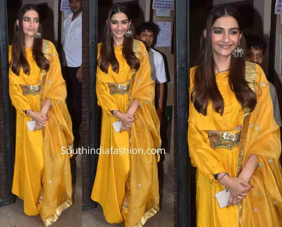 sonam kapoor yellow dress rakhi