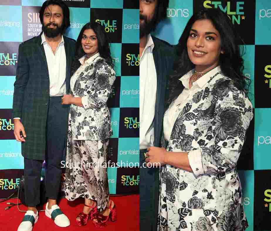 sreeja kalyan dress at siima 2019