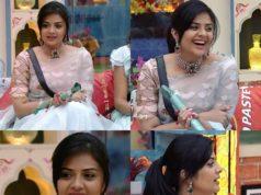 sreemukhi blue saree bigg boss rakhi episode (3)