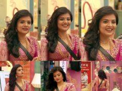 sreemukhi half saree bigg boss (2)