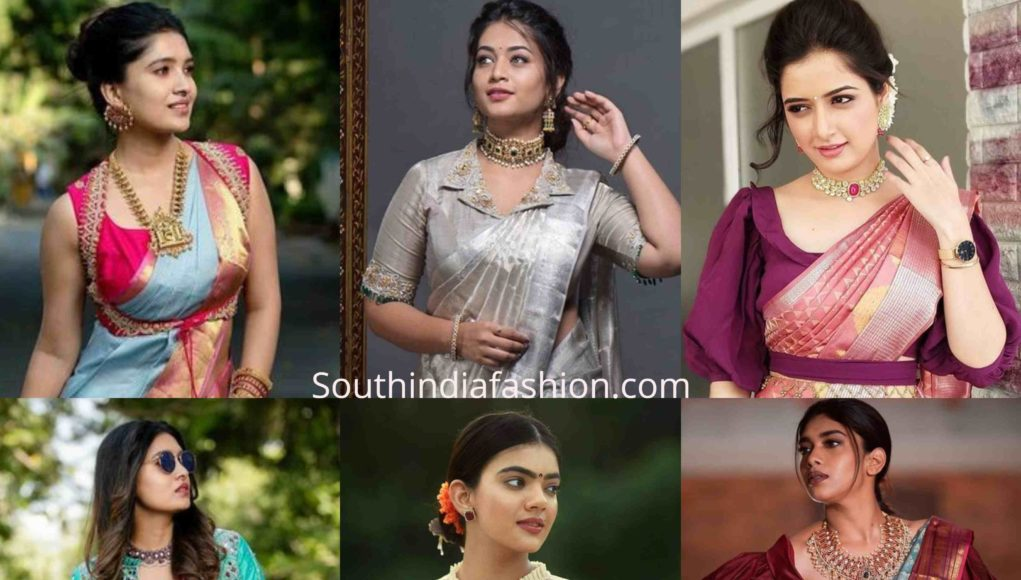 trendy silk saree blouse designs 2019 (2)