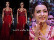 trisha krishnan red gown siima awards 2019