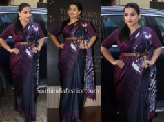 vidya balan in satya paul saree at a book launch