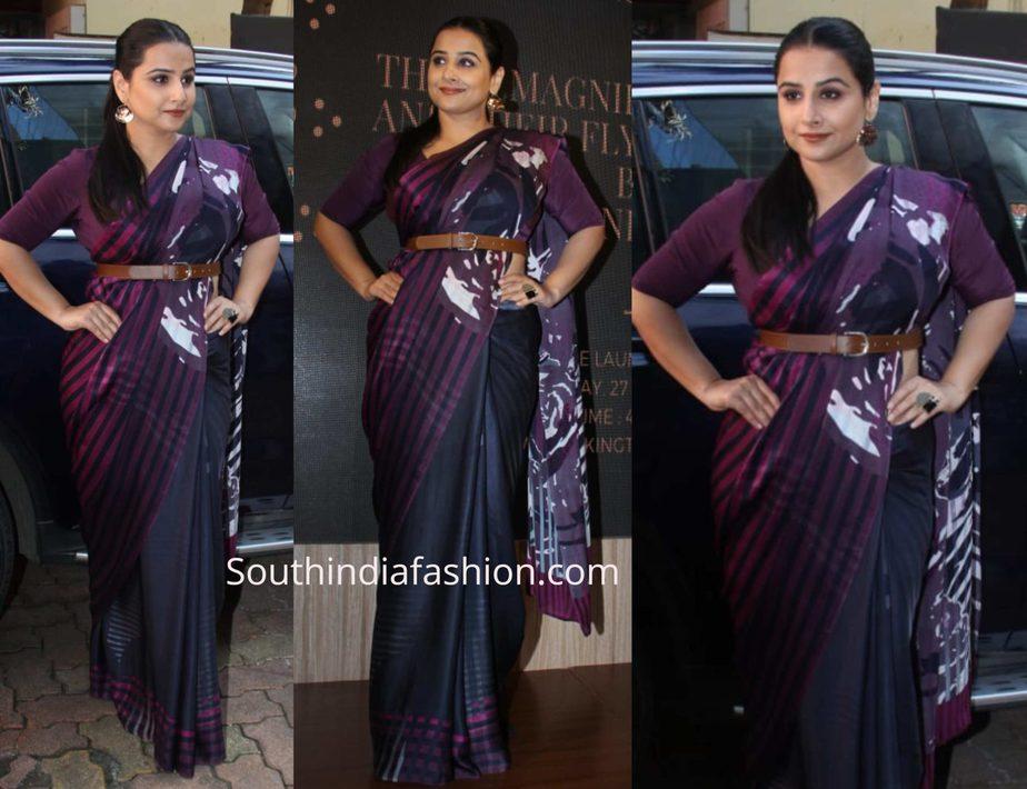 vidya balan in satya paul saree at a book launch