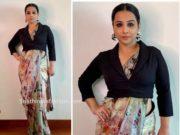 vidya balan saree with jacket