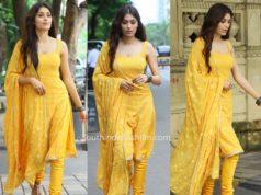 Gitika yellow salwar kameez
