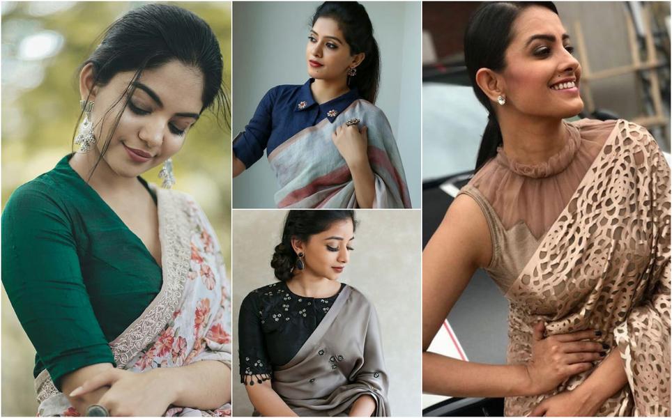 Simple Saree with designer blouse