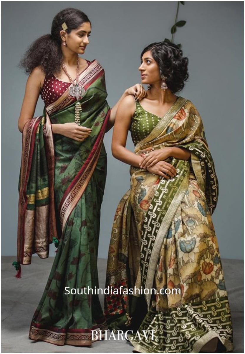 Vaani Collection kalamkari sarees by bhargavi kunam