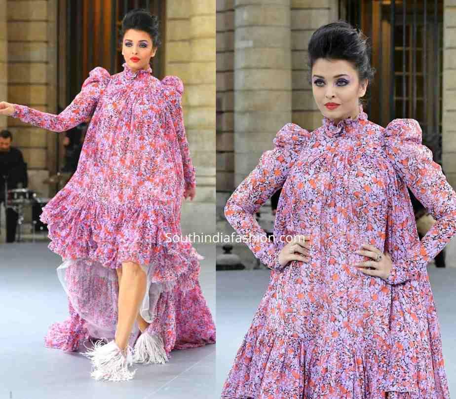 aishwarya rai bachchan purple dress paris fashion week (1)