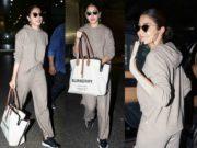 anushka sharma airport dress